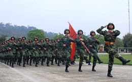ẢNH: Quân khu 2 tập diễu binh kỷ niệm 60 năm Điện Biên Phủ