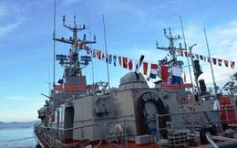 Lễ thượng cờ hai tàu pháo tuần tiễu hiện đại