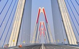 Cận cảnh cầu Nhật Tân - cây cầu dây văng dài nhất Việt Nam trước ngày thông xe