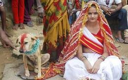 Cô gái 18 tuổi phải cưới... chú chó để tránh tai ương