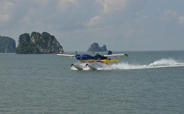 Thủy phi cơ DHC-6 bay luyện tập khu vực biển, đảo miền Bắc