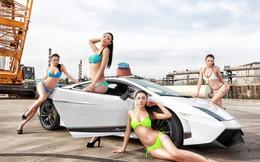Cặp đôi hoàn hảo của bikini và siêu xe