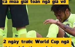 Ảnh chế: Giả vờ nhiều, Neymar chấn thương thật!