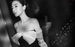 Bạn gái Huỳnh Hiểu Minh khoe lưng trần gợi cảm đón năm mới