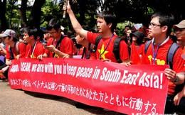 Tuần hành phản đối giàn khoan qua ống kính người bạn Nhật