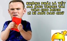 """Ảnh chế: Chưa đến Tết """"Bé ngoan"""", Rooney đã được trọng tài lì xì"""