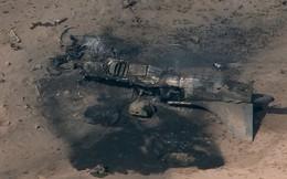 ẢNH: Máy bay AV-8B Harrier của quân đội Mỹ cháy rụi