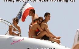 """Ảnh chế: Ronaldo """"tranh thủ"""" trong lúc chờ Messi vào chung kết"""