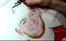 Nổi da gà với fan nữ vẽ Rooney giống như ảnh chụp