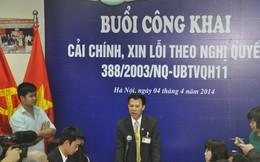 TAND Hà Nội công khai xin lỗi người chịu 10 năm oan sai