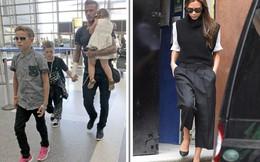 Vợ đi vắng, Beckham tay bị thương vẫn bế con gái cưng Harper