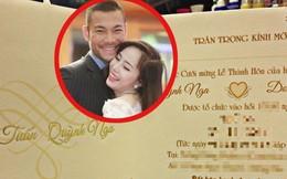 """Thiệp cưới """"độc nhất vô nhị"""" của Quỳnh Nga - Doãn Tuấn"""