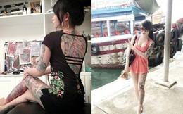 Cô gái Việt xăm kín lưng gây sốt với hình tượng Play boy