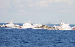 Tàu Trung Quốc lập hàng rào 3 lớp ngăn cản tàu Việt Nam