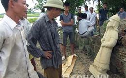 Phát hiện pho tượng đá với tư thế lạ ở Đền Cả - Hà Tĩnh