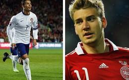"""Lập kỷ lục ghi bàn, Ronaldo vẫn thua """"chân gỗ"""" Bendtner"""