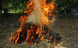 Bố dùng rơm đốt con trai vì... ăn mỳ tôm của bà nội