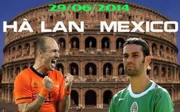 [Infographic] Hà Lan vs Mexico: Dùng bê tông cản lốc