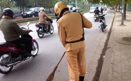 Hàng trăm chiếc đinh rải rác ở đường, dân nhốn nháo tìm chỗ vá xe
