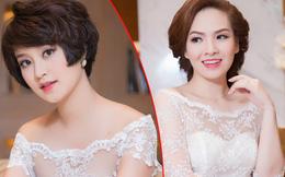 Đan Lê, Mi Vân mặc váy cưới lộng lẫy