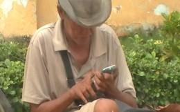 Trục xuất ông già ăn xin xài iPhone ở Mỹ Tho