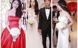Cận cảnh 3 bộ váy cưới lộng lẫy và đắt đỏ của Thủy Tiên