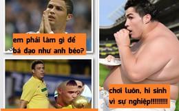 """Cris Ronaldo hướng đến... cân nặng của """"Rô béo"""""""