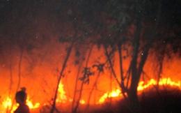 Huy động toàn xã, kể cả học sinh đi dập lửa cháy rừng suốt 1 ngày