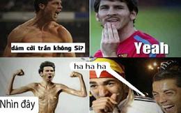 """Khoe body như """"con nghiện"""", Messi bị Ronaldo cười vào mũi"""