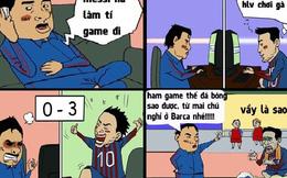 """Messi bị đuổi khỏi Barca vì """"nghiện"""" game"""