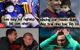 Con trai Messi không nghe lời bố, muốn trở thành Ronaldo