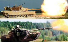 """Siêu tăng T-90 Nga so cao thấp cùng """"vua chiến trường"""" Abrams Mỹ"""