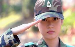 Nhan sắc xinh như hot girl của nữ quân nhân Hàn Quốc