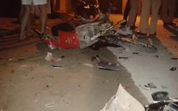 Xe máy kẹp 3 trốn CSCĐ tông vào xe ngược chiều, 5 người nguy kịch
