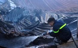 Tan hoang xưởng gỗ 2.000 mét vuông sau khi bị bà hỏa thiêu rụi