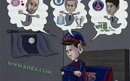 Ảnh vui: Tiền, tình, cúp, Messi biết chọn gì đây?