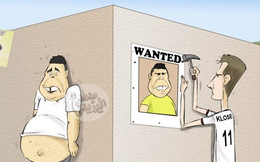 Ảnh chế: Ronaldo béo bị truy nã gắt gao