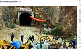 Báo nước ngoài đưa tin về cuộc giải cứu nạn nhân sập hầm