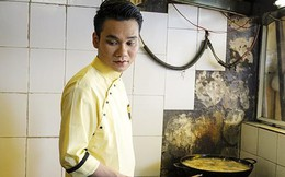 Hình ảnh làm nhân viên quán bún đậu của Khắc Việt