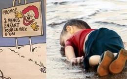 Charlie Hebdo lại gây bão về tranh biếm họa em bé di cư