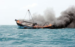 Nổ tàu cá, 19 ngư dân mất tích gần Côn Đảo