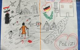 Nước Đức rung động trước bức tranh của cô bé tị nạn Syria