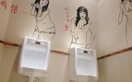 Độc chiêu thu hút khách nam bằng nhà vệ sinh gợi cảm