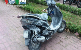 TP.HCM: Xe máy bốc cháy chủ nhân bỏ chạy