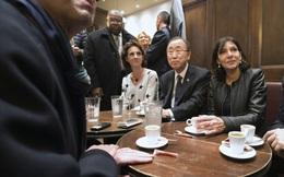 Tổng thư ký Liên Hiệp Quốc lần đầu uốngcà phê vỉa hè