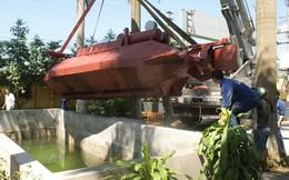 [ẢNH] Tàu ngầm mini Hoàng Sa có thể vượt bùn, đi trên cạn