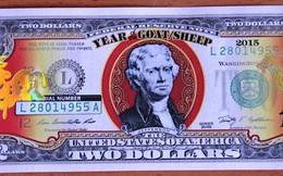 Tờ 2 USD hình dê mạ vàng đang gây sốt