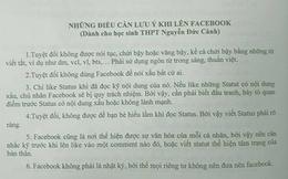 """Cấm học sinh chửi bậy trên Facebook: Giám đốc Sở thấy """"rất tốt"""""""