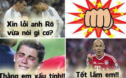 "Ảnh chế: Bale trở mặt ""tẩn"" Ronaldo là vì ai?"