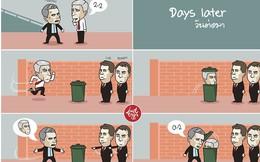 Wenger phải chui vào thùng để tránh mặt Mourinho